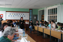 Semianr Law and Media in Erzin. Photo by Dina Oyun