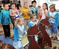 In Tuva, kids learn about the rituals and meaning of the Shagaa holiday in kindergarten