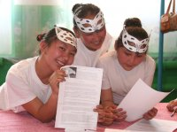 The first children's snow leopard festival took place in Tuva