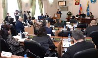Глава Тувы выступил с Отчетом о работе правительства в 2014 году