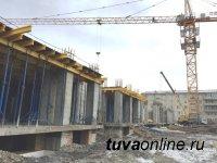 В южной части Кызыла возводится 9-этажка по технологии монолитного домостроения