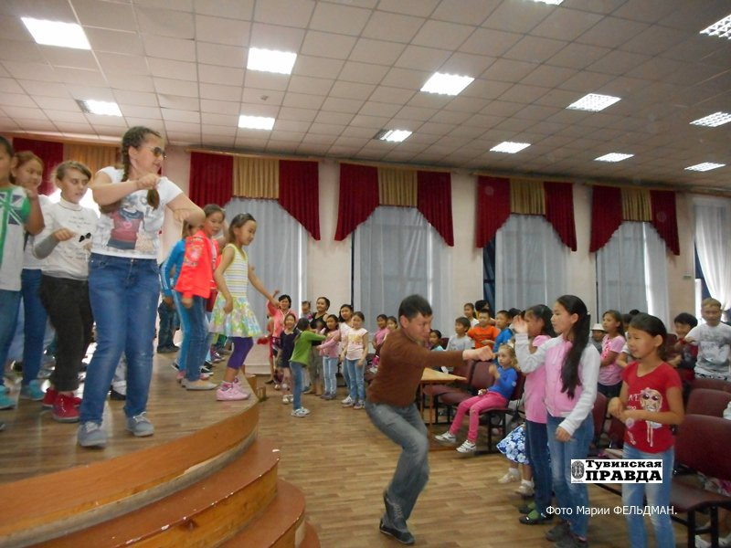 Детский лагерь при школе № 3 г. Кызыла