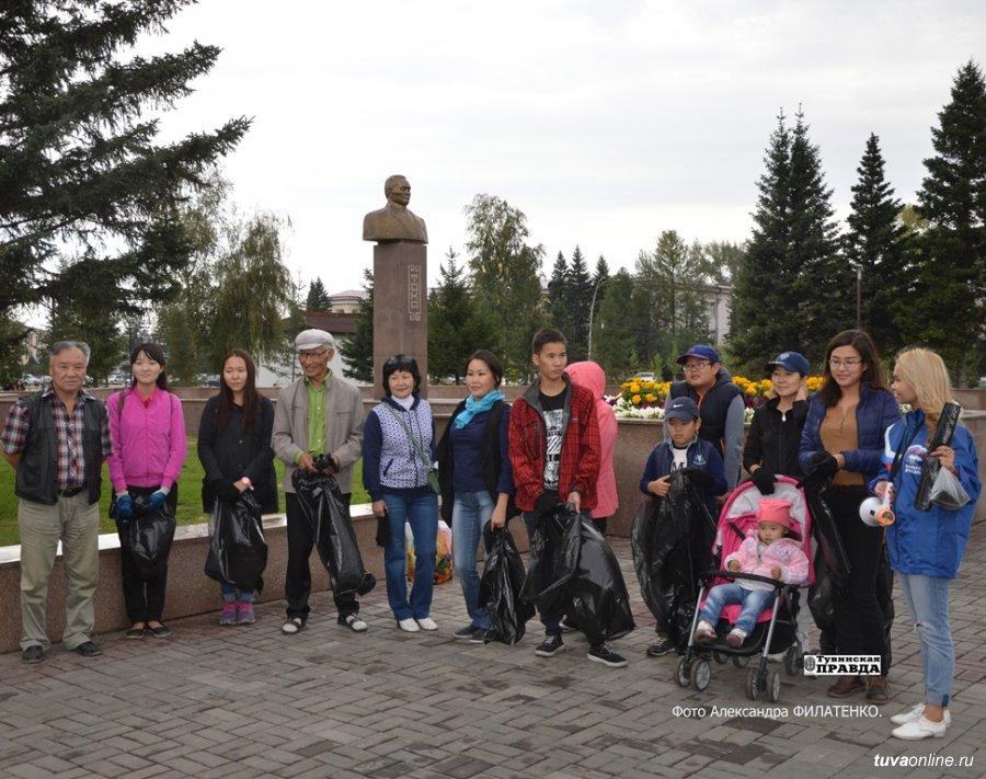 Активисты добровольческого агентства волонтеркызыльского транспортного техникума