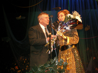 Nadezhda Antufieva and Yuri Slobodchikov. Photo by Oyumaa Khomushku