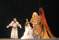 King Lear by Tuvan theatre presented in Moscow in 2006. Photo by Dina Oyun