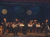 Оркестр духового отделения Кызылского училища искусств исполняет Танцы воинов