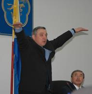 Анатолий Квашнин на совещании в Туве. Фото газеты Урянхай-Неделя