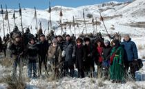 Съемочная группа фильма По велению Чингисхана. Фото Виталия Шайфулина. Предоставлено газетой Урянхай-Неделя