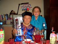 Чимит-Доржу Байырович Ондар с супругой Диной Николаевной