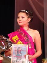Radmila Kuzhuget, Tuva, winner at the Miss Asia beauty contest. 2006.