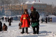 Зима в Кызыле. Фото Оюмыы Хомушку