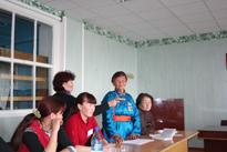 ИА Тува-Онлайн проводит в Эрзине семинар Закон и СМИ. Фото Дины Оюн