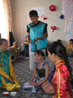В летнем лагере по изучению английского языка. Тува. Фото предоставлено посольством США в России