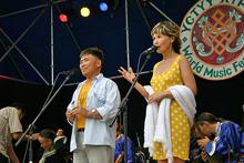 Ведущие гала-концерта Андрей Чымба и Дина Оюн. Фото Андрея Клюева