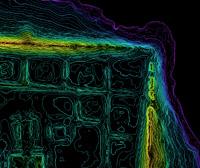Фрагмент карты микрорельефа
