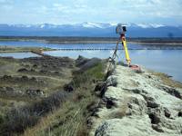 Работа лазерного сканера на острове