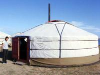 Юрта -- мобильный визит-центр. Фото проекта ПРООН/ГЭФ