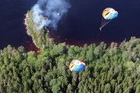 Parachutists from Tuva will help to fight fires in Komi