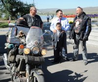 Байкер из Владивостока доехал до Тувы