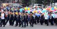 Кызыл отметил День Города праздничным шествием