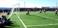 В Туве появилось еще одно современное футбольное поле