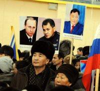В Туве чабан-обладатель подарка от Путина приехал поддержать его на митинге в Кызыле