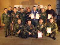 В Туве накануне Дня защитника Отечества выявили лучших стрелков из малокалиберной винтовки