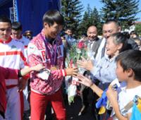В Туве паралимпийца Михаила Оюна встретили как Национального Героя