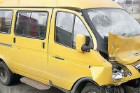 В Кызыле произошло ДТП с участием маршрутного такси