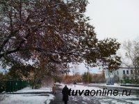 Сильный ветер, мокрый снег и гололедица ожидаются в Туве