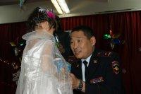 Тува: полицейский Дед Мороз побывал в гостях у детей