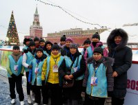 12 тувинских школьников вернулись с главной елки страны