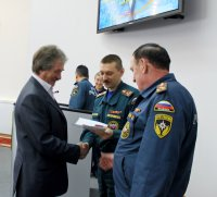 Сотрудники Тываэнерго получили государственные награды от МЧС России.