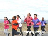 Более 200 кызылчан в выходные вышли на зарядку и пробежку