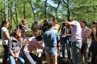 В Туве на базе лагеря «Юность» прошла летняя Школа юного журналиста