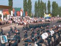 Тувинский государственный ансамбль «Саяны» выступает в Курске на фестивале «Салют, Победа!»