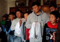 В Туве члены молодежного движения «Субедей» приняли обет буддиста-мирянина