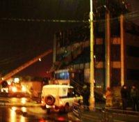 В торговом центре «Гермес» сгорела крыша