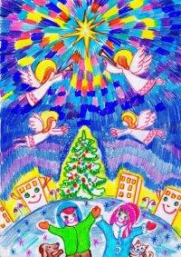 Школьников Тувы приглашают участвовать в конкурсе детских рисунков «Праздник Рождества»