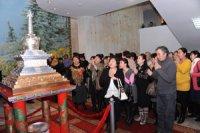 В Туве открыт памятник тувинской письменности в виде субургана из серебра