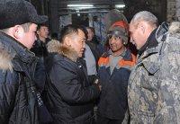 Глава Тувы проинспектировал в поселке Хову-Аксы объекты жизнеобеспечения