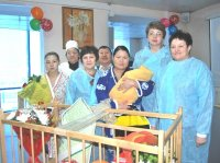 В Кызыле поздравили первых новорожденных Года Синей лошади