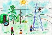13-летняя Айжигаш Ооржак получила планшет за плакат о безопасном электричестве