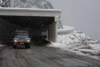 На Буйбинском перевале идет снег