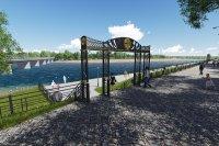 В Кызыле на протоке Енисея будет обустроен городской пляж с водными горками