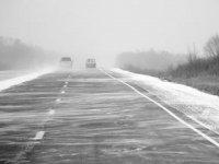 В Туве снежная метель. Закрыта автодорога А-161