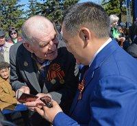 В Туве ветераны пообещали, что будут держаться, чтобы 9 мая 2015 года вместе встретить 70-летие Великой Победы