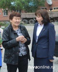 Детвору Кызыла продолжают обеспечивать детскими площадками