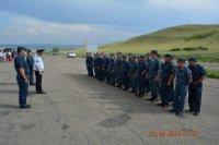 Тувинские бойцы ОМОНа, СОБРа и сводного отряда полиции вернулись из командировки в Чечню
