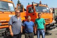 Кызыл-юбиляр получил в подарок три новые поливальные машины